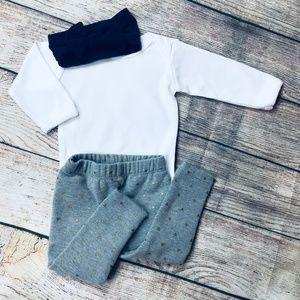 Baby Girl 3-6m tea legging set